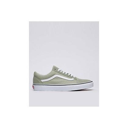 Old Skool Shoes in Desert Sage/True White by Vans