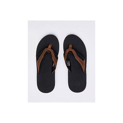 Fanning Leather Sandals in Black/Bronze by Reef