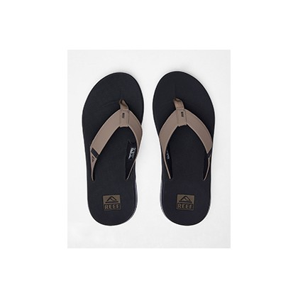 "Fanning Low Sandals in ""Black/Tan""  by Reef"