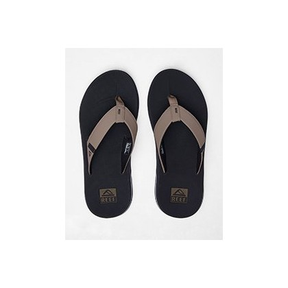 Fanning Low Sandals in Black/Tan by Reef