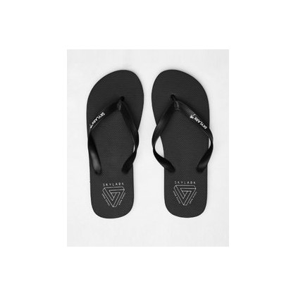 Fracture Thongs in Black/White by Skylark