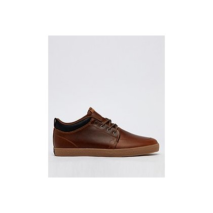 Gs Chukka Hi-top Shoes in Brown Leather/Crepe by Globe