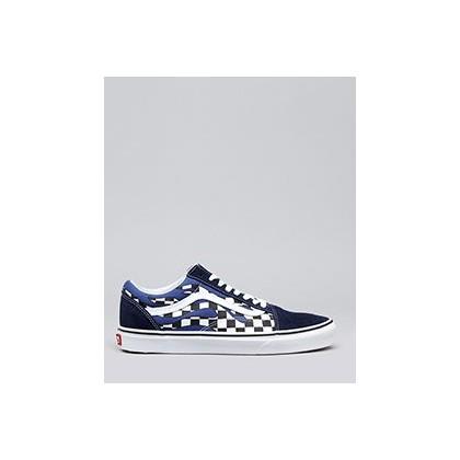 Old Skool Shoes in (Checker Flame) Navy/True by Vans