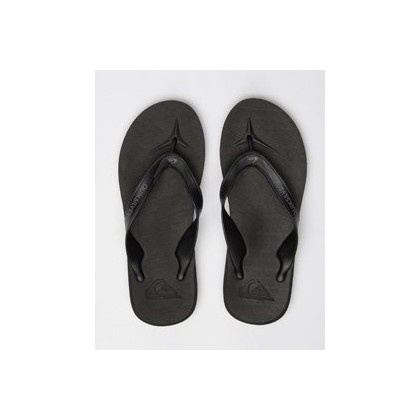 Carver II Thongs in Black/Grey/Brown by Quiksilver