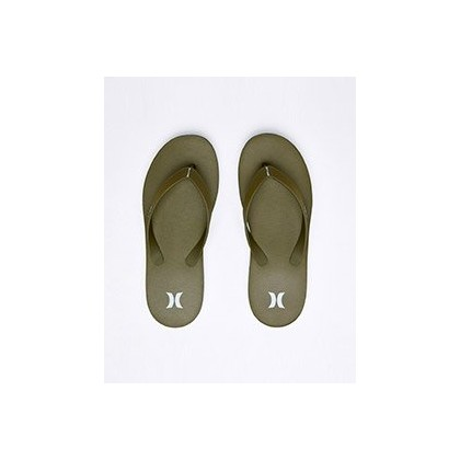 """One & Only Sandal in """"Olive Canvas/White-Topal""""  by Hurley"""