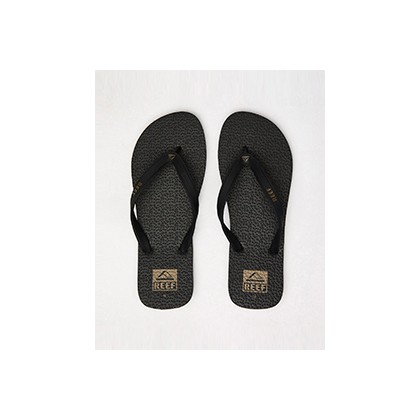 "Trinidad Logo Thongs in ""Black Fossil""  by Reef"