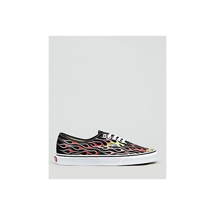 "Authentic Flame Shoes in ""Flames Black/True White""  by Vans"