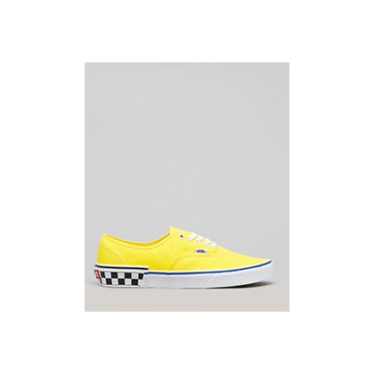 "Authentic Shoes in ""(Check Block) Blazing Yel""  by Vans"