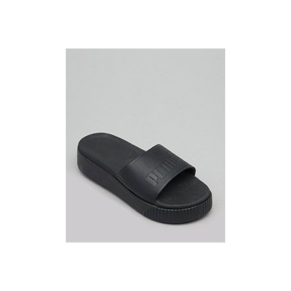 Bold Platform Slide Sandals in Puma Black by Puma