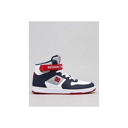 Pensford Shoes in White/Navy/Red by DC Shoes