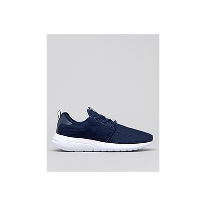 Bristol Shoes in Navy/White Knit by Lucid