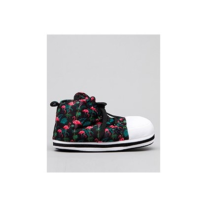 Chuck Slipper Flock in Black/Pink by GET IT NOW