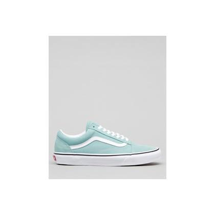 """Old Skool Shoes in """"Aqua Haze/White""""  by Vans"""