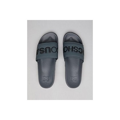 DC Slides in Grey/Black by DC Shoes