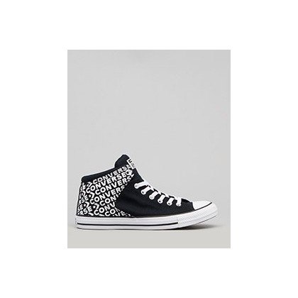 Chuck Taylor High Street in Black/Black/White by Converse