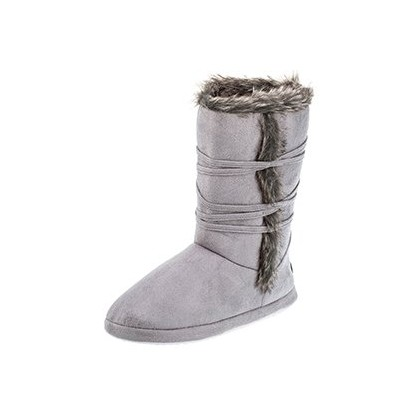 Olympia Slipper Boots in Light Grey by Sleepy Squirrel