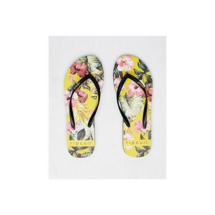 Hanalei Thongs in Yellow by Rip Curl