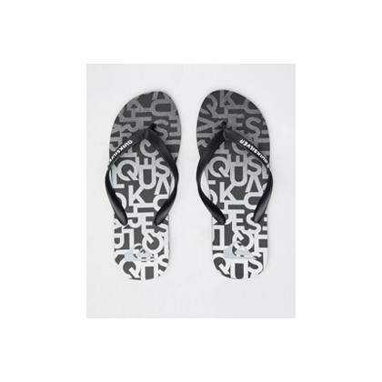 "Molokai Thongs in ""Black/Grey/Grey""  by Quiksilver"