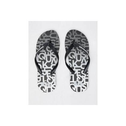 Molokai Thongs in Black/Grey/Grey by Quiksilver