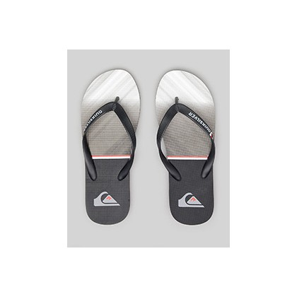 "Molokai Everyday Division Thongs in ""Black/Grey/Black""  by Quiksilver"