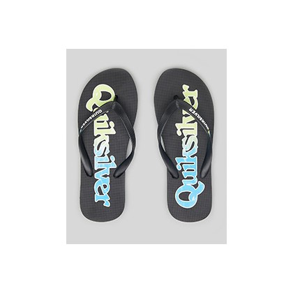 "Molokai Wordmark Thongs in ""Black/Green/Blue""  by Quiksilver"
