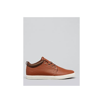 GS Chukka Hi-Top Shoes in Brown/Antique Crepe by Globe