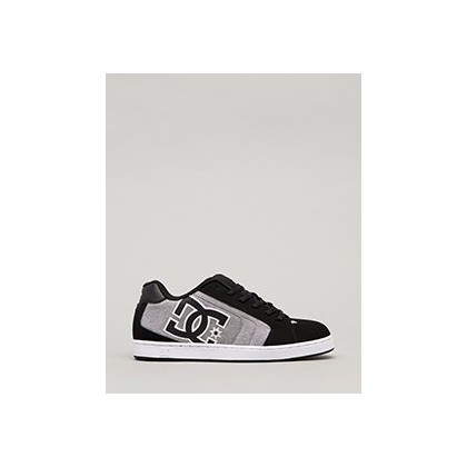 Net Shoes in Black/Charcoal by DC Shoes