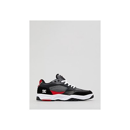 Maswell Shoes in White/Black/Red by DC Shoes