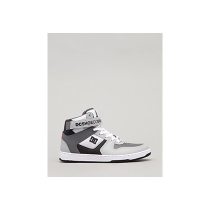 Pensford Hi-Top Shoes in White/Grey/Black by DC Shoes