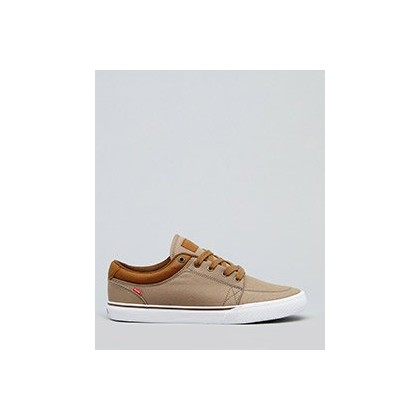 GS Timberwolf Shoes in Woodsmoke Twill/Brown by Globe