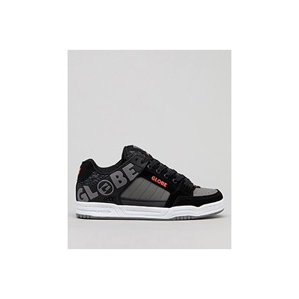 Tilt Shoes in Black/Red/Grey Knit by Globe