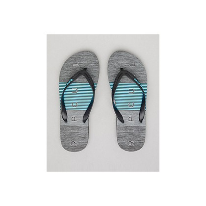 "Drive Thongs in ""Black/Blue""""Black""  by Rip Curl"