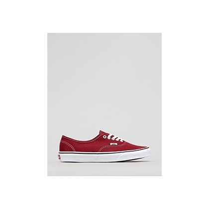 Authentic Shoes in Rumba Red/True White by Vans