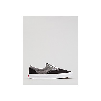 "Era Canvas Shoes in ""(Chambray) Black/White""  by Vans"