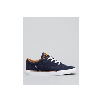 Tribe Shoes in Navy Chambray/Brown Mock by Globe