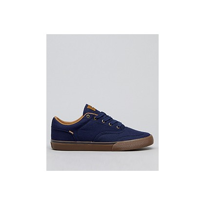 "Tribe Shoes in ""Navy Twill/Dark Gum""  by Globe"