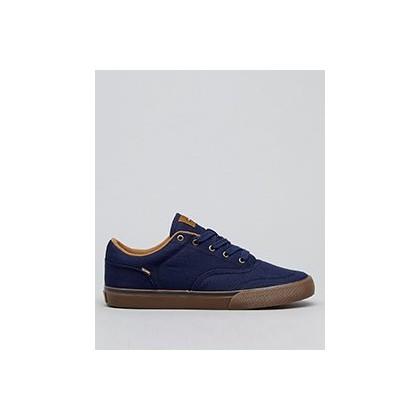 Tribe Shoes in Navy Twill/Dark Gum by Globe