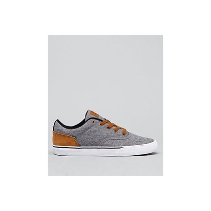 Tribe Shoes in Grey Chambray/Brown Mock by Globe
