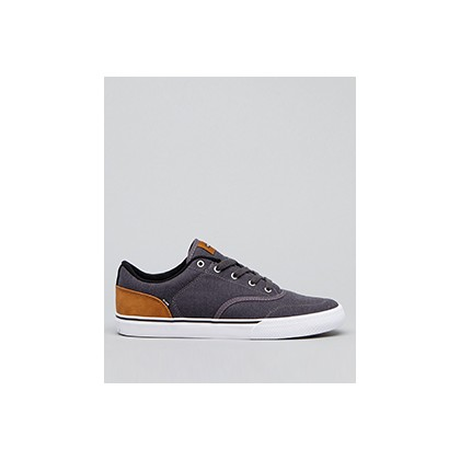 "Tribe Shoes in ""Grey Twill/Brown Mock""  by Globe"