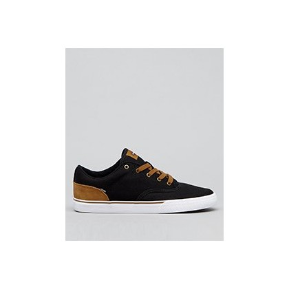 Tribe Shoes in Black Twill/Brown Mock by Globe