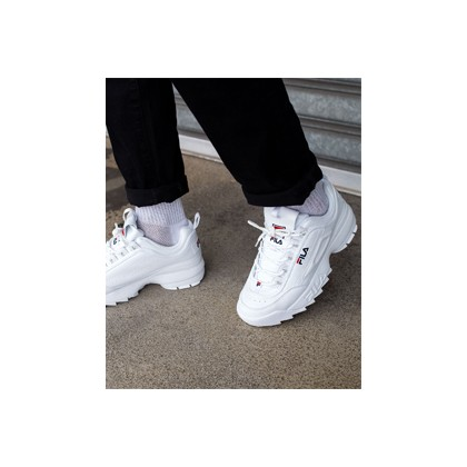 "Disruptor Street Shoes in ""White""  by Fila"