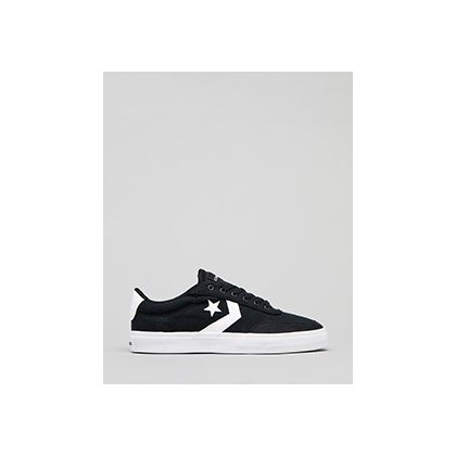 Courtland Shoes in Black/White/Black by Converse