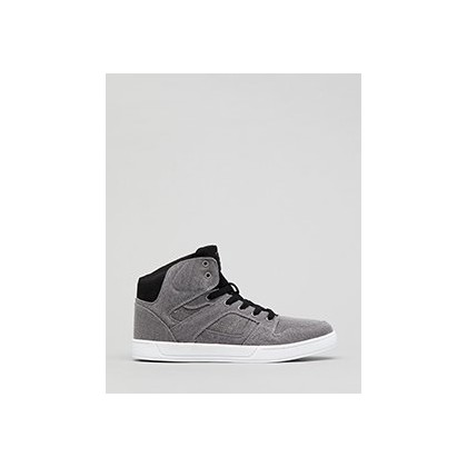Crown Hi-top Shoes in Grey/White by Sanction