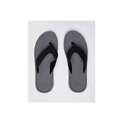 Haleiwa Plus Thongs in Black/Grey/Blue by Quiksilver