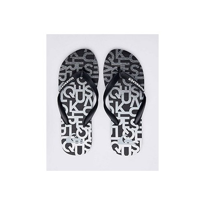 "Molokai Random Thongs in ""Black/Grey/Grey""  by Quiksilver"