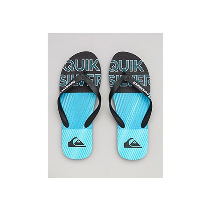 "Molokai Fluid Thongs in ""Black/Blue/Blue""  by Quiksilver"