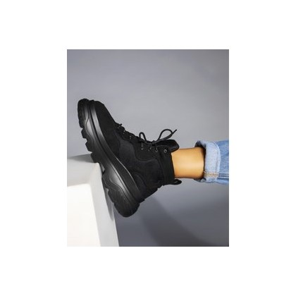Chi Hi-Top Shoes in Black by Ava And Ever