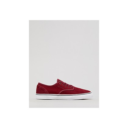"Wino Standard Shoes in ""Burgundy/White""  by Emerica"
