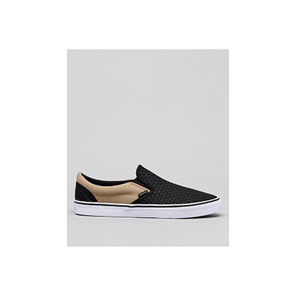 "Weavel 2 Tone Slip-On Shoes in ""Black/Sand""  by Jacks"
