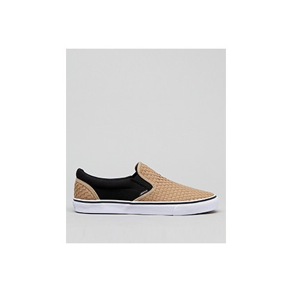 "Weavel 2 Tone Slip-On Shoes in ""Sand/Black""  by Jacks"
